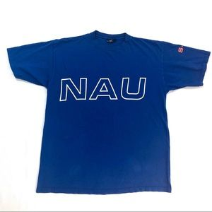Nautica (Made in USA) Huge Spell Out Shirt
